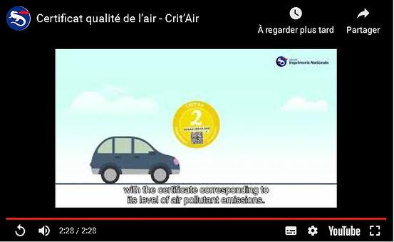 vidéo certificat qualité de l'air