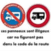 Panneaux illégaux camping-car