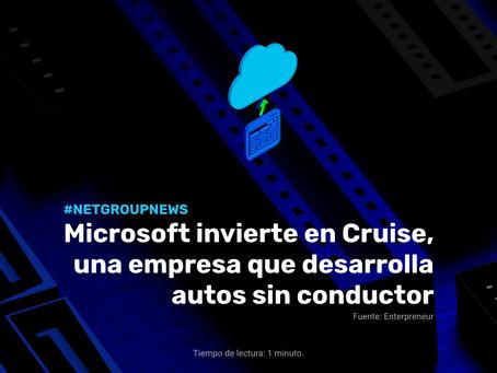 Microsoft invierte en Cruise, una empresa que desarrolla autos sin conductor