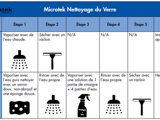 MICROTEK ENTRETIEN DU VERRE - GLASS CLEANING