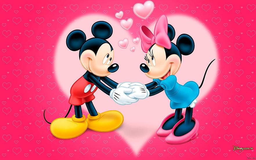 Mickey y Minnie corazón