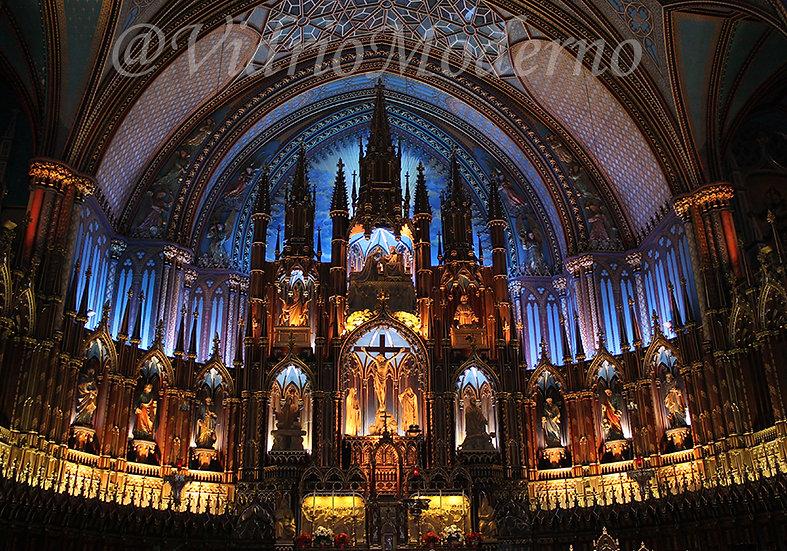 Altar mayor Catedral Notre Dame de Montreal
