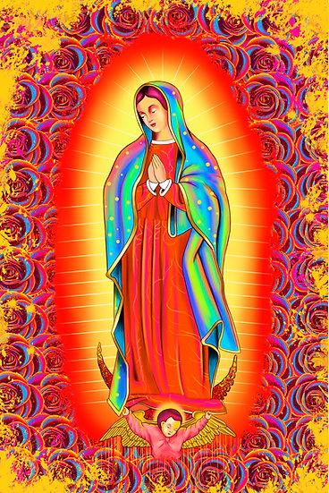 Virgen de Guadalupe colores