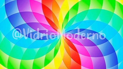 Flor de colores