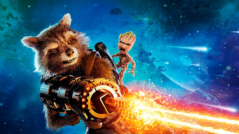 Groot y Rocket Raccoon