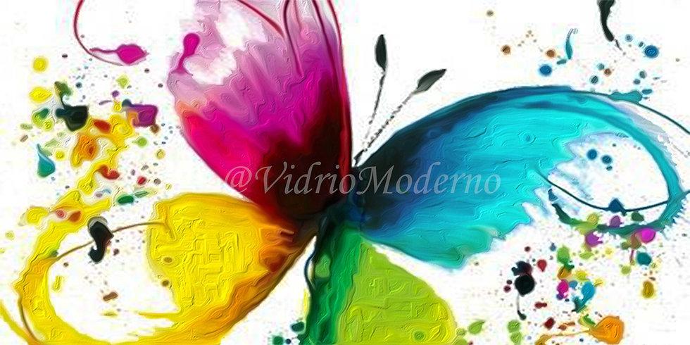 Mariposa abstracta con efecto al óleo