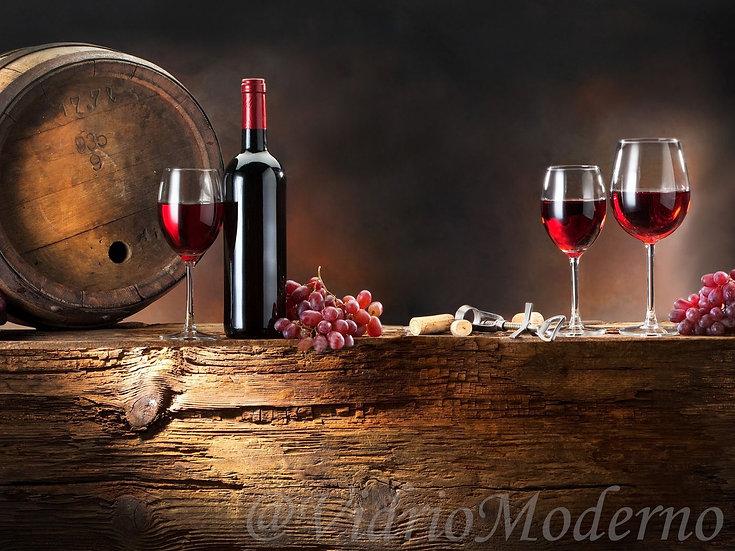 Bodegón y vino