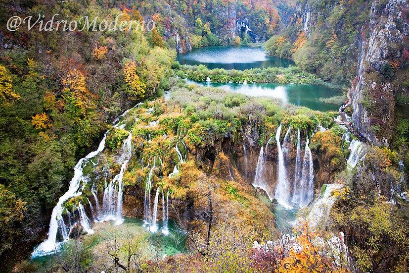 Cascada de  plitvice. Croacia