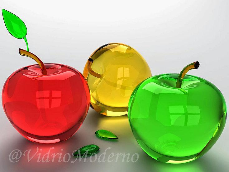 Manzanas de vidrio