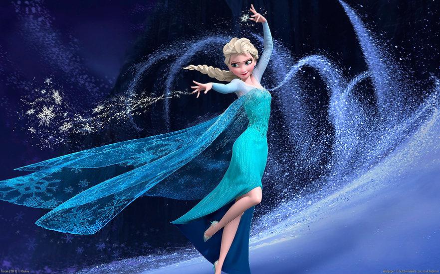 Elsa en la montaña