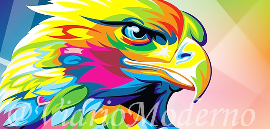 Águila de colores
