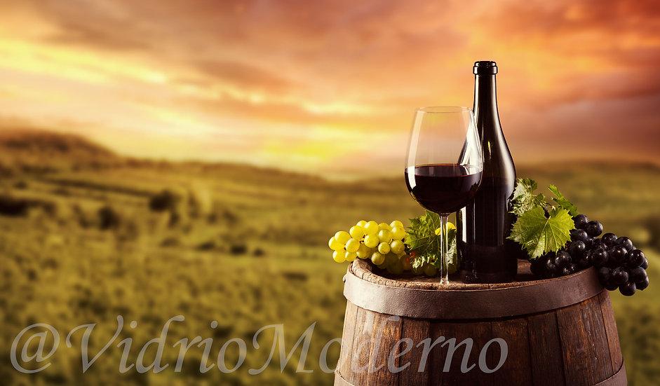 Atardecer con un vino