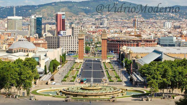 Vista de Barcelona desde el Montjuic