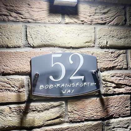 Door number plaque