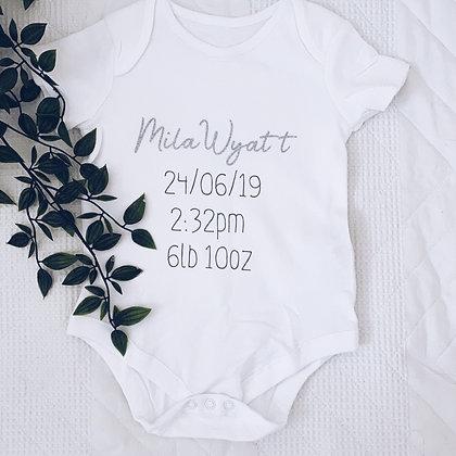 Birth details vest