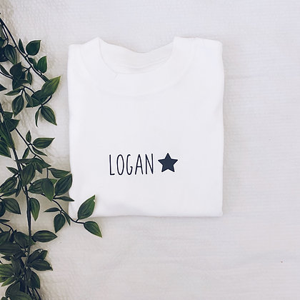 Swirl name t-shirt