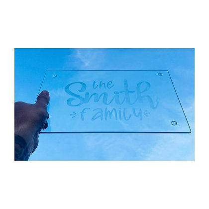 Glass etched place mat