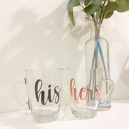 His and Hers mug set