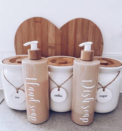 Bamboo Pump Bottles