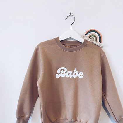 Nude 'babe' jumper