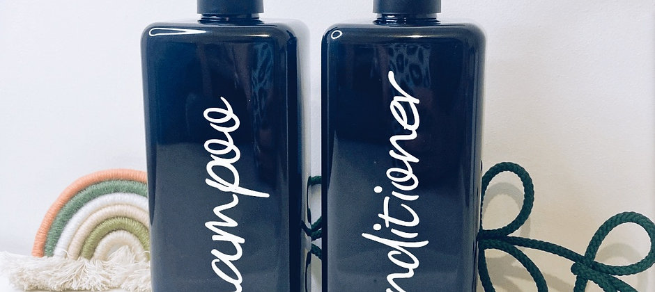 Square pump bottles