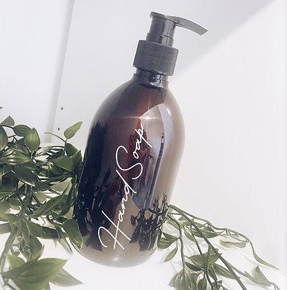 Amber pump bottle