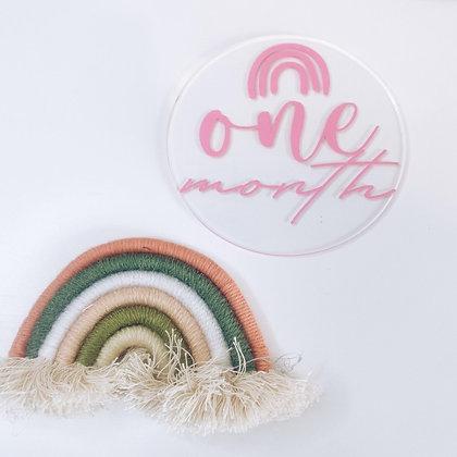 Rainbow milestone discs