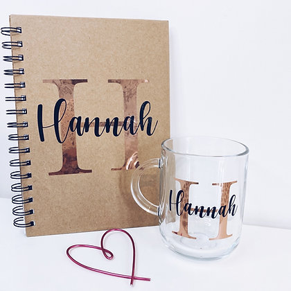 Notebook & mug gift set