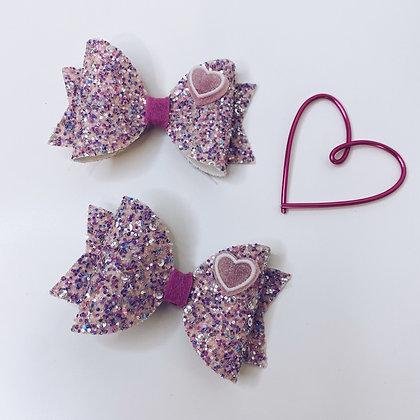 Glittery love bow