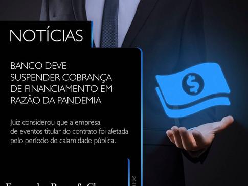 Empresa de eventos - Suspensão de Financiamento
