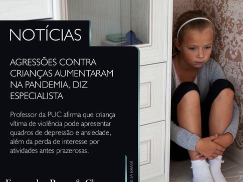Agressões contra crianças aumentaram durante a pandemia