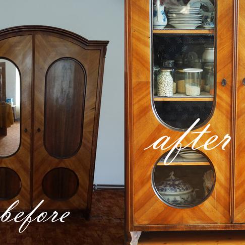 Makeover: Modrotisková skříň