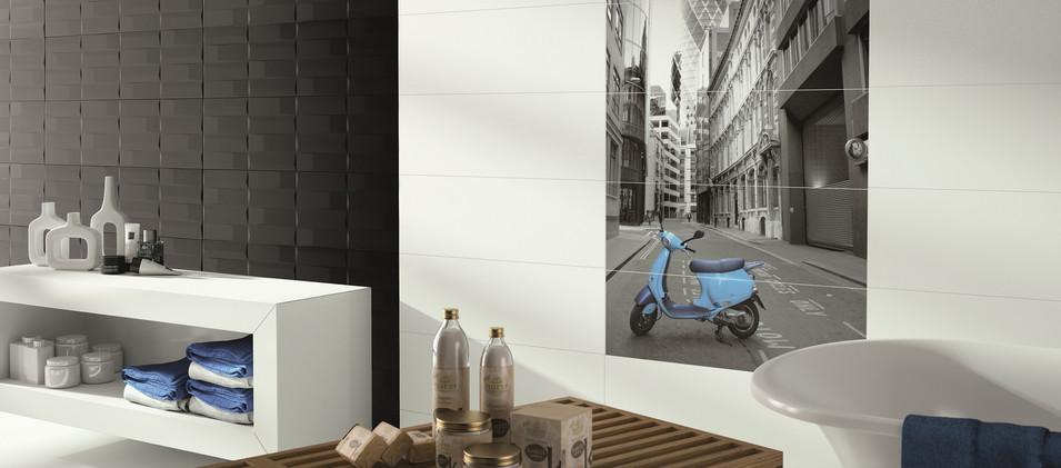 salle de bain design Carreaux Luxe