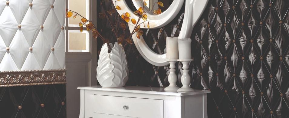 Nemaudeco Prestige toujours plus loin dans la décoration d'intérieur : le carrelage capitonné, bombé avec strass.