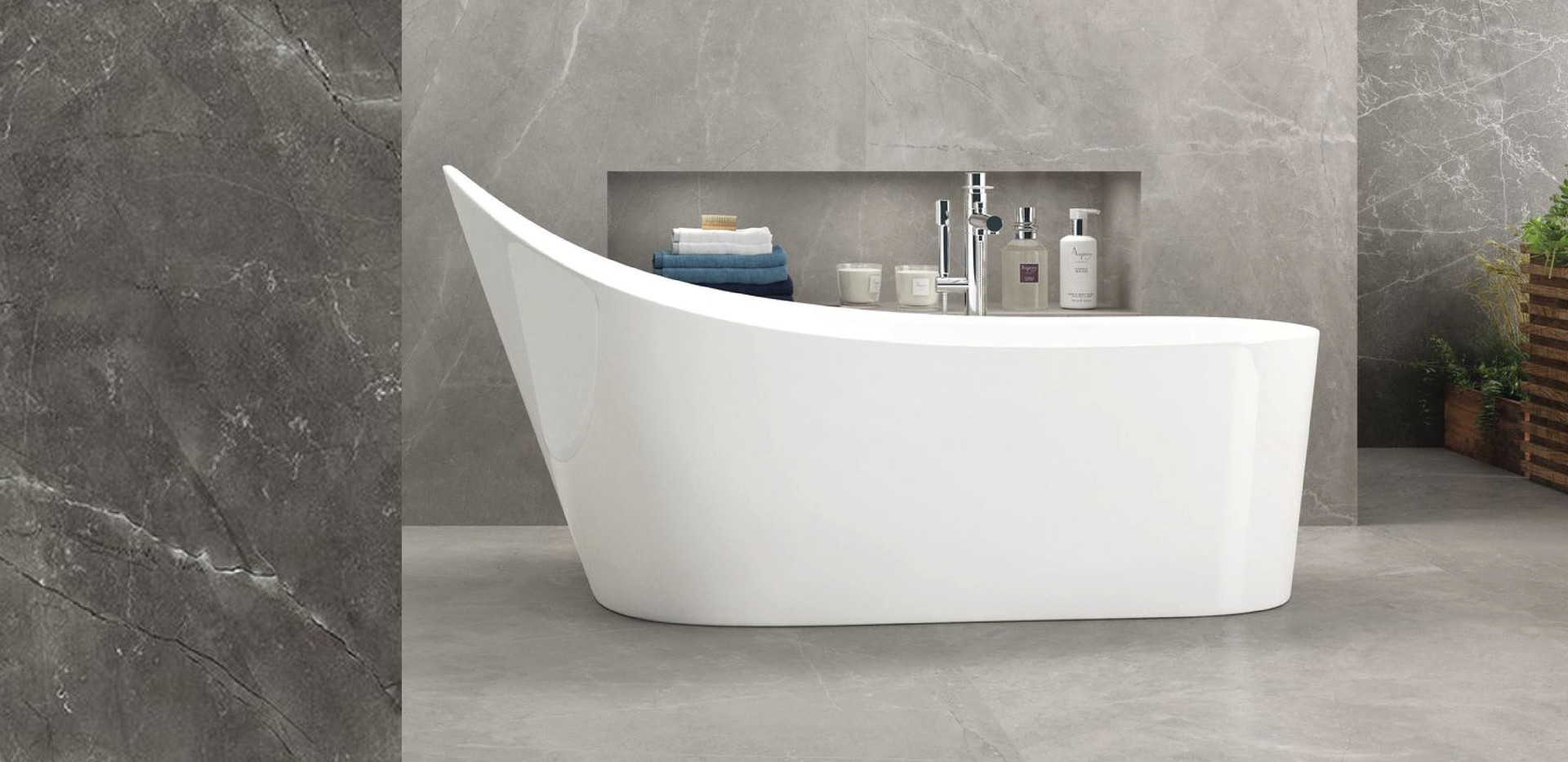 salle de bain carreaux XXL