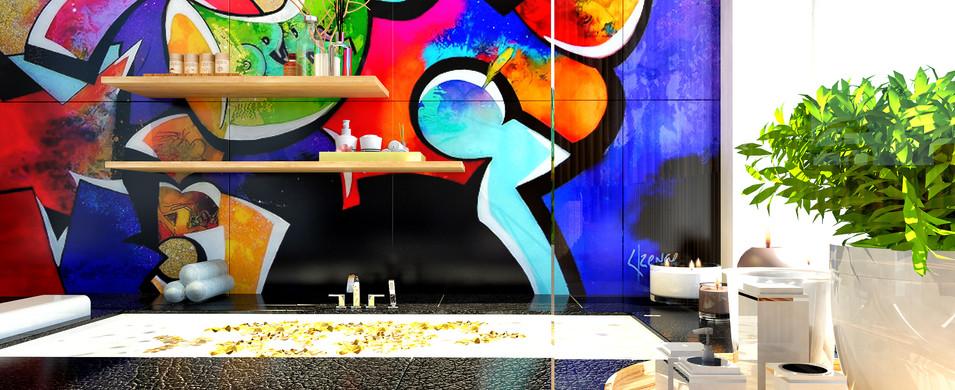 Salle de bain Artiste Peintre