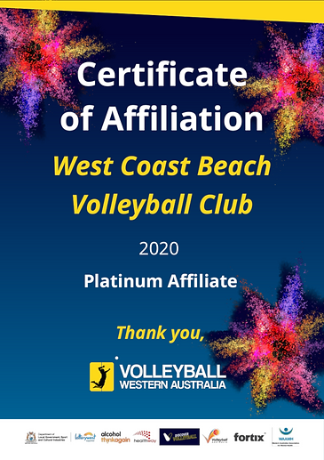 Affiliation West Coast Beach Volleyball