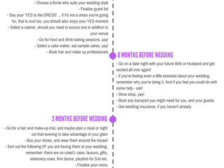 The wedding planning timeline – 12 months to go, time to … panic?!