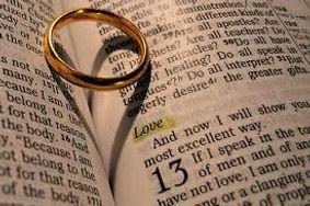Wedding Ring on Bible. Gibraltar Catholic Youth.