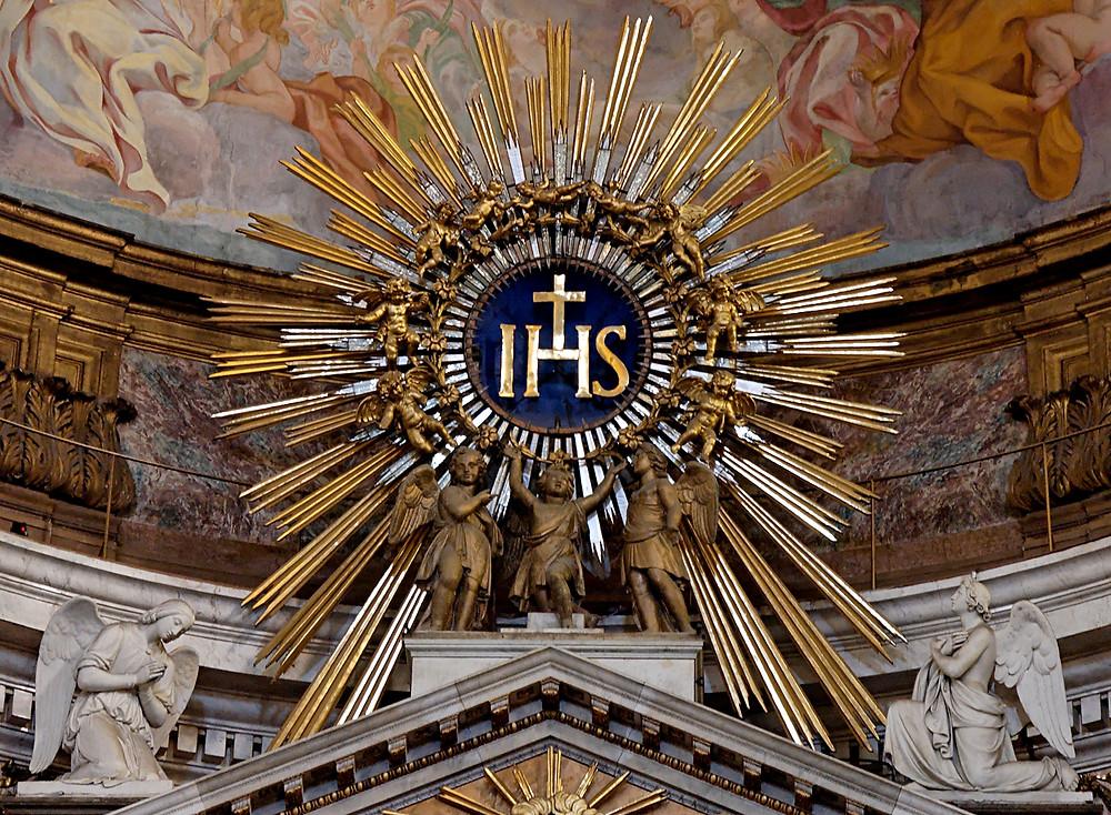IHS. Holy Name of Jesus. Gibraltar Catholic Youth.