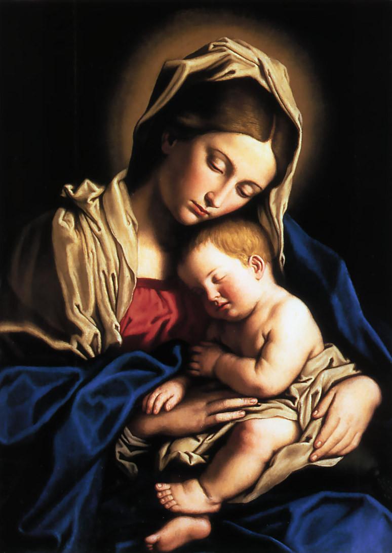 Mary and Jesus. Gibraltar Catholic Youth.