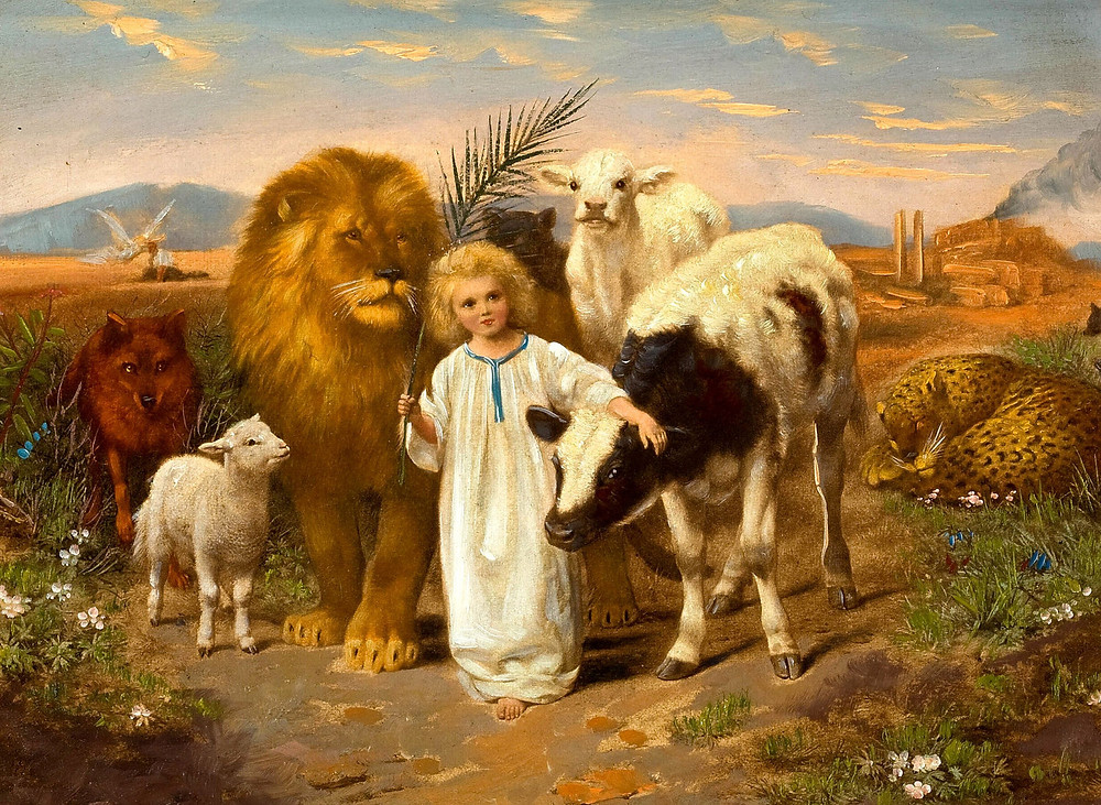 The Wolf Lives with the Lamb and a Small Child Leads Them. Gibraltar Catholic Youth.