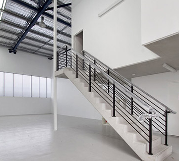 White Interior of Warehouse