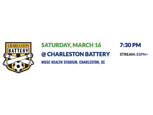 Matchday #2 Preview: Charleston Battery (3/16)