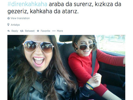 Turkish women post smiling selfies after deputy PM Bulent Arinc says they should 'not laugh in