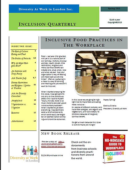 Inclusive Food Practices in the Workplace