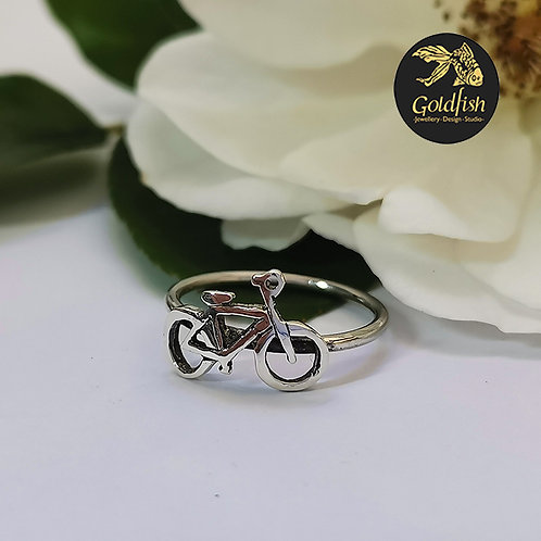 Sterling Silver Bicycle Stack Ring