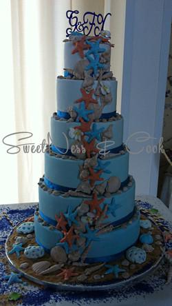 Wedding Cake bleu des îles