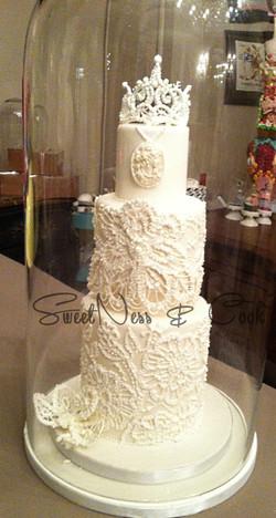 Wedding Cake dentelles glace royale