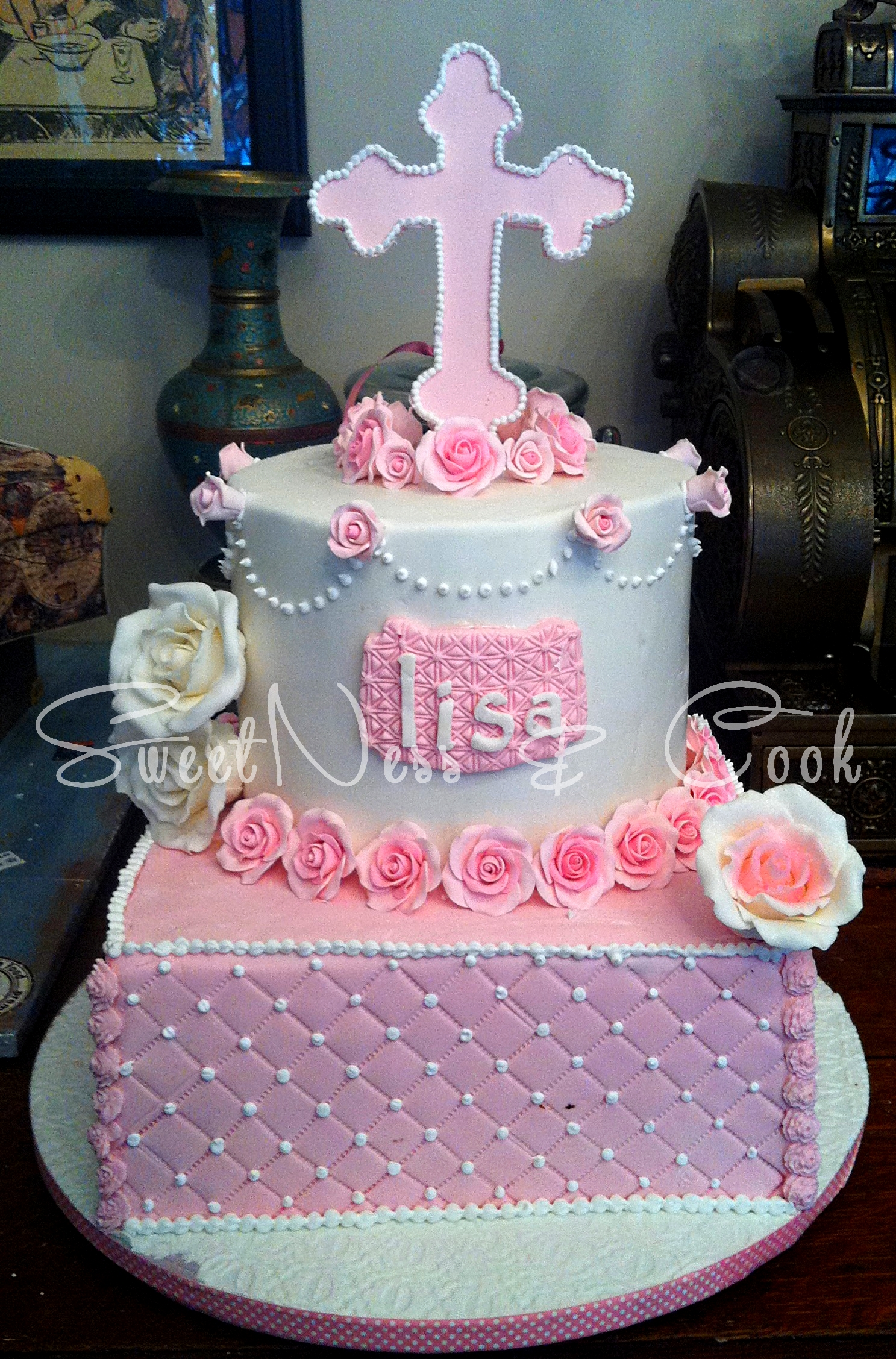 Cake Design Lisa Baptême